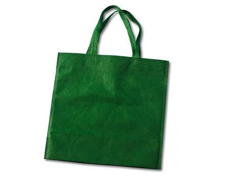 handlers: Green, reusable shopping bag