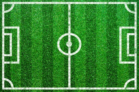 Grass football pitch