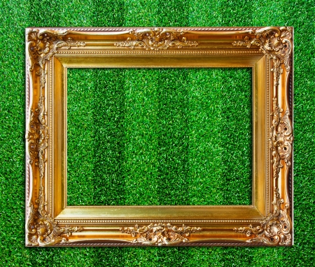 Frame on the grass. photo