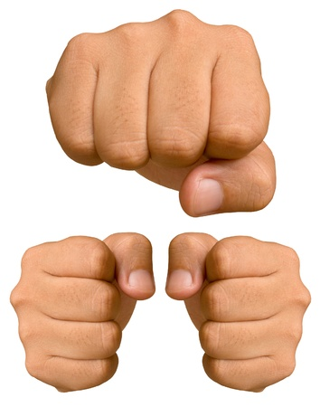 Fist isolated on a white background. Stock Photo