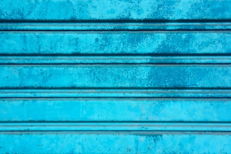 Contrast Blue Closed Shutter Door photo
