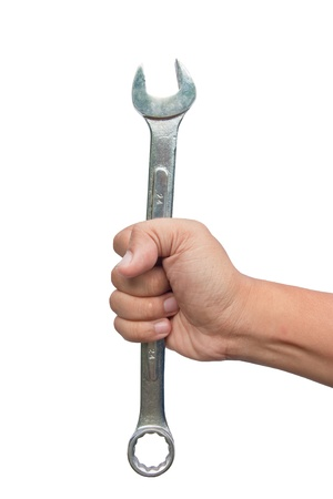 Handle wrench isolated on white background