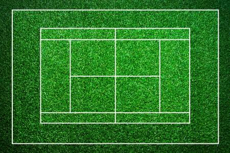 Background, grass tennis courts