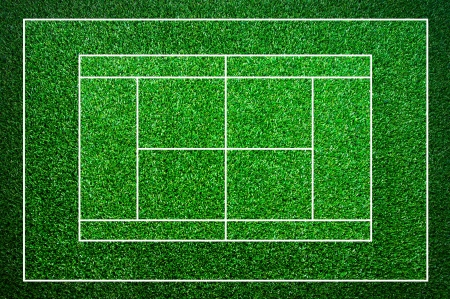 Background, grass tennis courts  photo