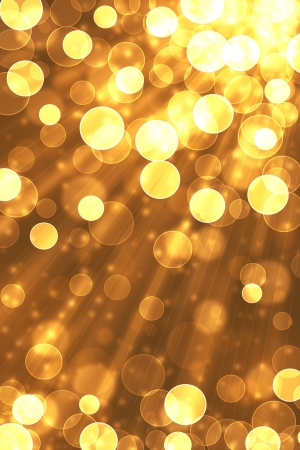 celebration: Bokeh abstract light background and golden. Stock Photo
