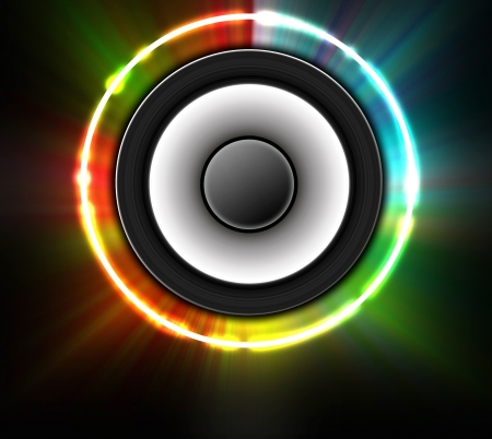 abstract music theme background with loudspeakers. Stock Photo - 15223079
