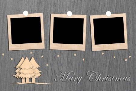 Christmas tree for image and text.