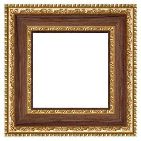 Quadratischen Rahmen für Ihr Foto isoliert auf weißem Hintergrund.