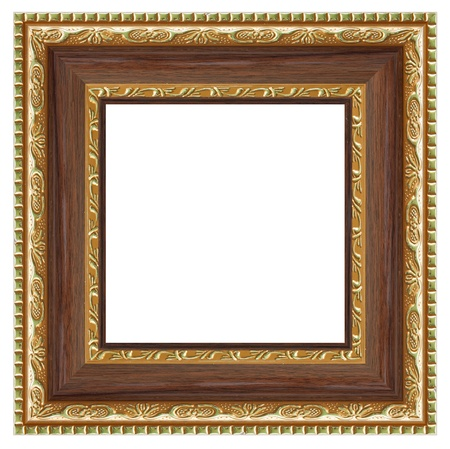 Square frame for your photo isolated on white background. photo