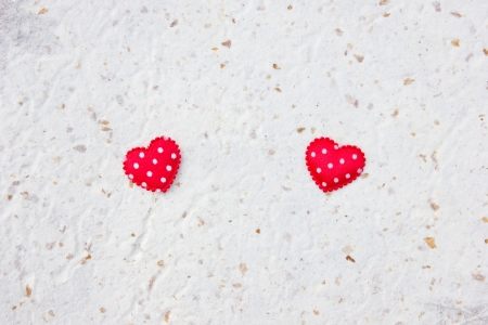 Red heart background isolated on a background paper. For your message. Stock Photo - 16633746