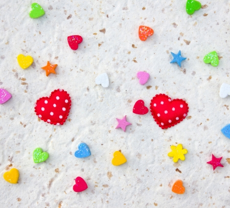 Red heart background isolated on a background paper. Stock Photo - 16633743