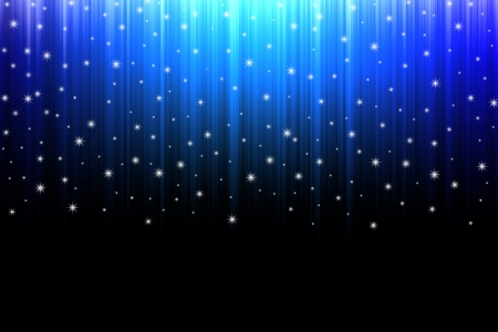 Abstract background blue rays and stars. Stock Photo - 17172461