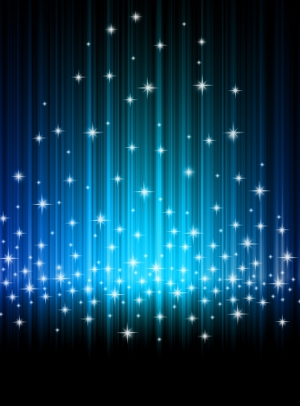 Abstract background blue rays and stars Stock Photo - 17172474