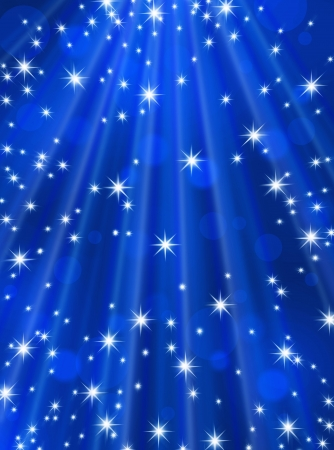 Abstract background blue rays and stars Stock Photo - 17172466