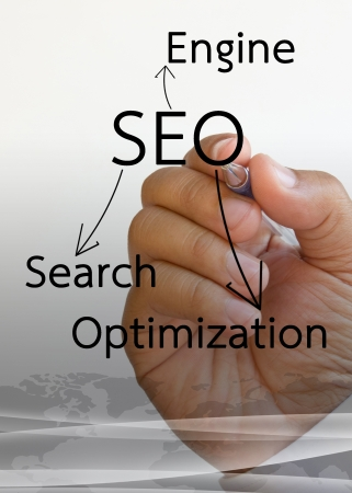 backlink: SEO on a white board.