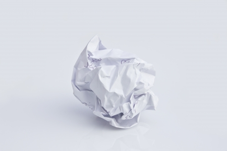 wastrel: Paper being crumpled  Stock Photo