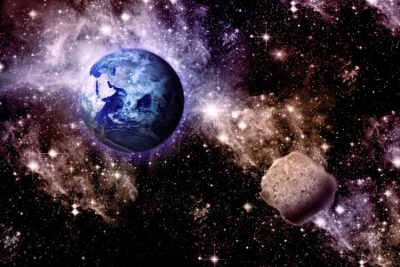 Univers arrière-plan. Et des planètes. Banque d'images - 18282841