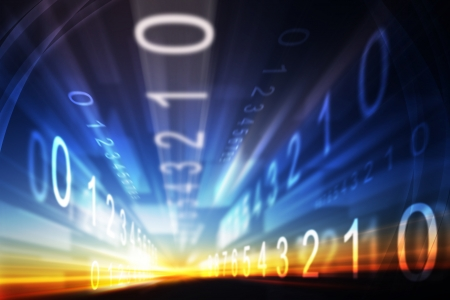 Abstract design made of light and the grid elements in the business, science and technology education.