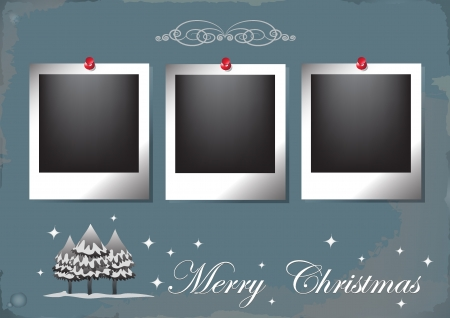 Christmas vintage frame, vector  illustration Vector