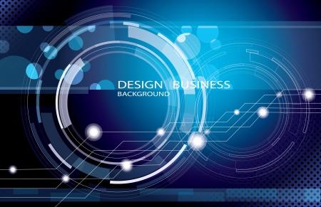 Blue background technology vector illustration