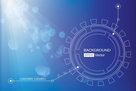 Blue background  Technology