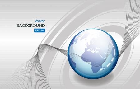 Abstract globe background. Technology. 矢量图像