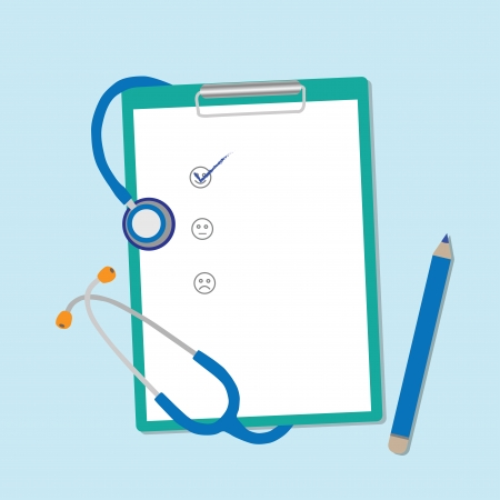 health check: Clipboards vector illustration