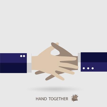 teamwork hands: Handshake, Teamwork Hands. Vector illustration.