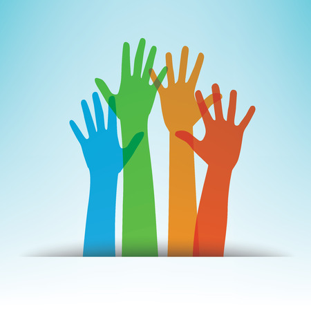 colorful hands, vector illustration Vector