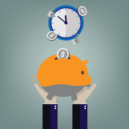 Piggy bank, illustration Vector