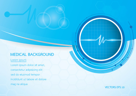 medical background vector Çizim