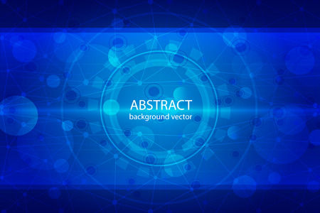medical medicine: Molecular abstract blue background vector medical illustration.