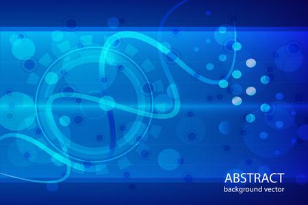 medicine background: Molecular abstract blue background vector medical illustration.
