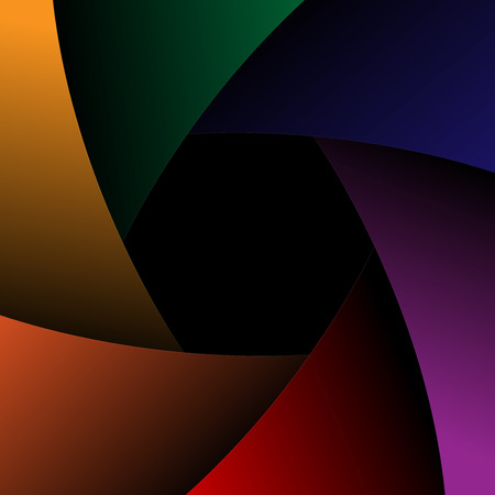 Vector camera shutter Colorful background. Vector