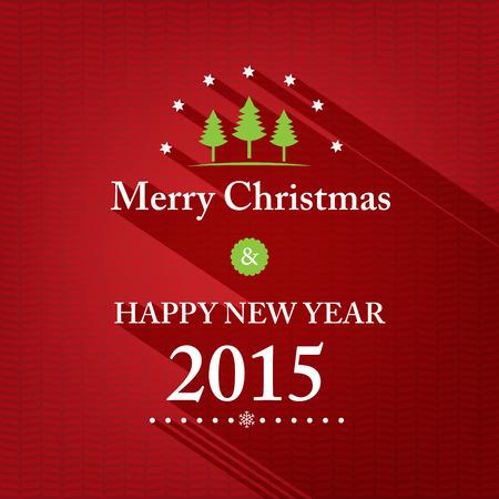 merry christmas card green background .vector illustration Vector