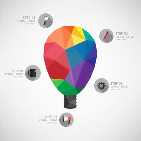 icon lamp idea Vector illustration