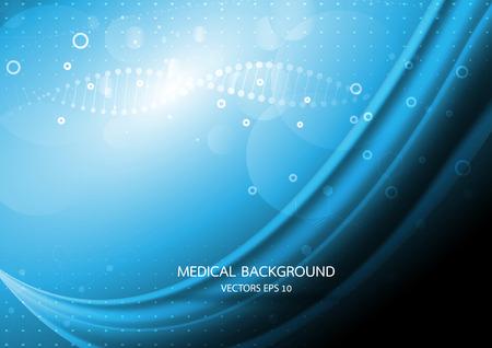 Gráficos abstractos moléculas médica en fondo azul. Vector Foto de archivo - 40185580