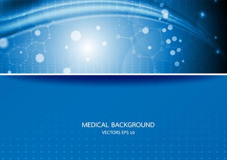 Abstrakte Grafik-Moleküle in medizinischen blauen Hintergrund. Vektor Standard-Bild - 40185587