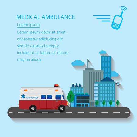 ambulancia: Coche de la ambulancia de emergencia m�dica