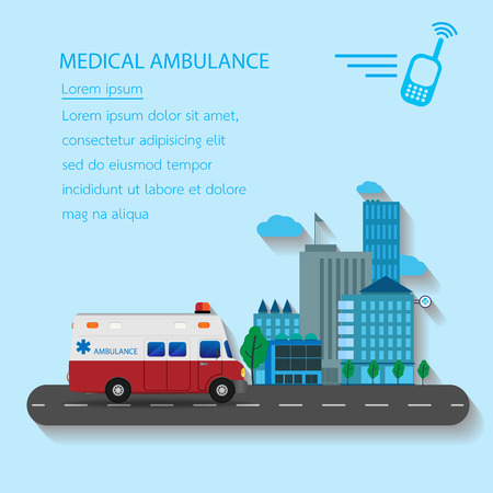 emergency ambulance: Medical emergency ambulance car