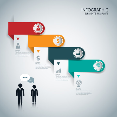 flechas: Infographics options banner. Vector. Can be used for web design and workflow layout