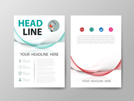 Vector business set of flyer, brochure design templates.