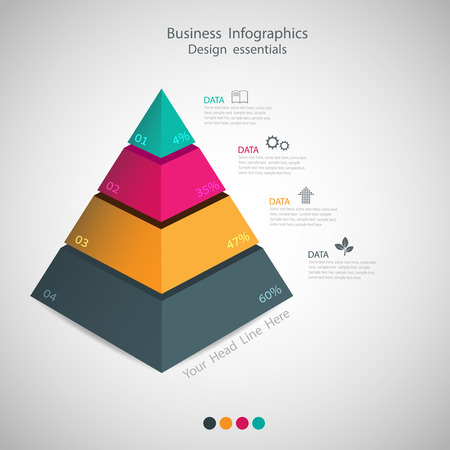 pyramid: abstract Pyramid type infographic elements. vector