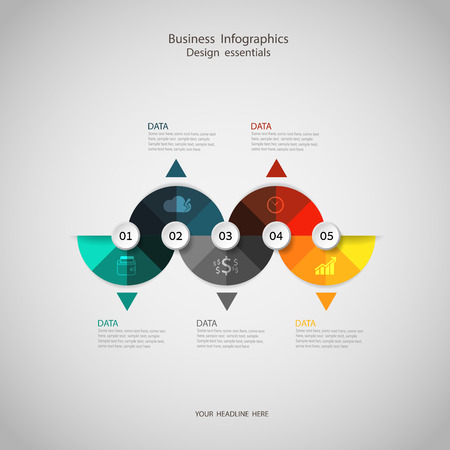 seven: Business concept infographic step to successful,vector illustration Illustration
