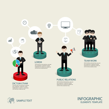 Business concept infographic step to successful,vector illustration Ilustração