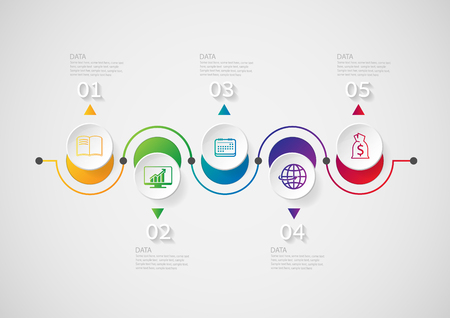 info graphic: Infographic design template and marketing icons on the grey background. concept with 10 options Can be used for web design and workflow layout