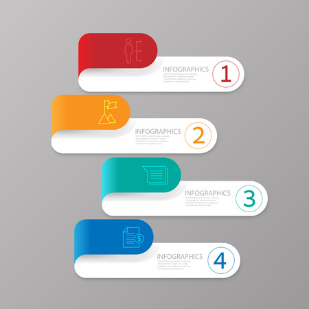 brochure template: Modern infographics business design options banner.Vector illustration.