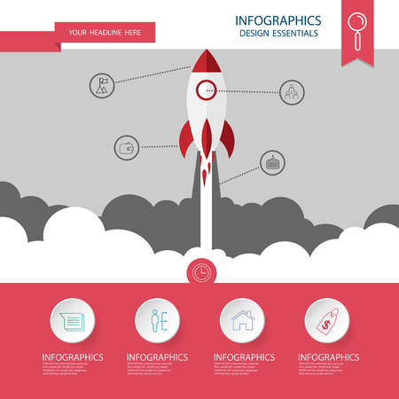 concept: Startup concept. concept flat style . Vector Template Illustration