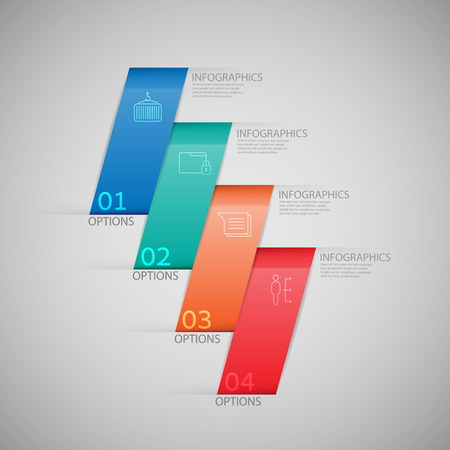 number background: infographics Modern business origami style options banner. Vector illustration.