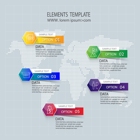 origami numbers: Abstract Infographic design on the grey background. Vector illustration can be used for workflow layout, diagram, number options, web design. Illustration